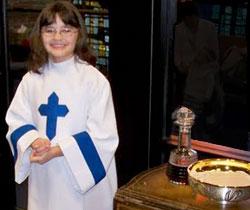 Altar Server in St. Charles Borromeo Church