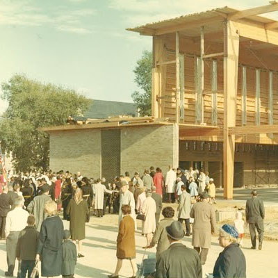 Construction of New Church. October 1966