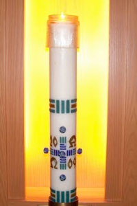 Lit Paschal Candle